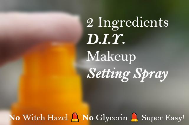 2 Ings D I Y Makeup Setting