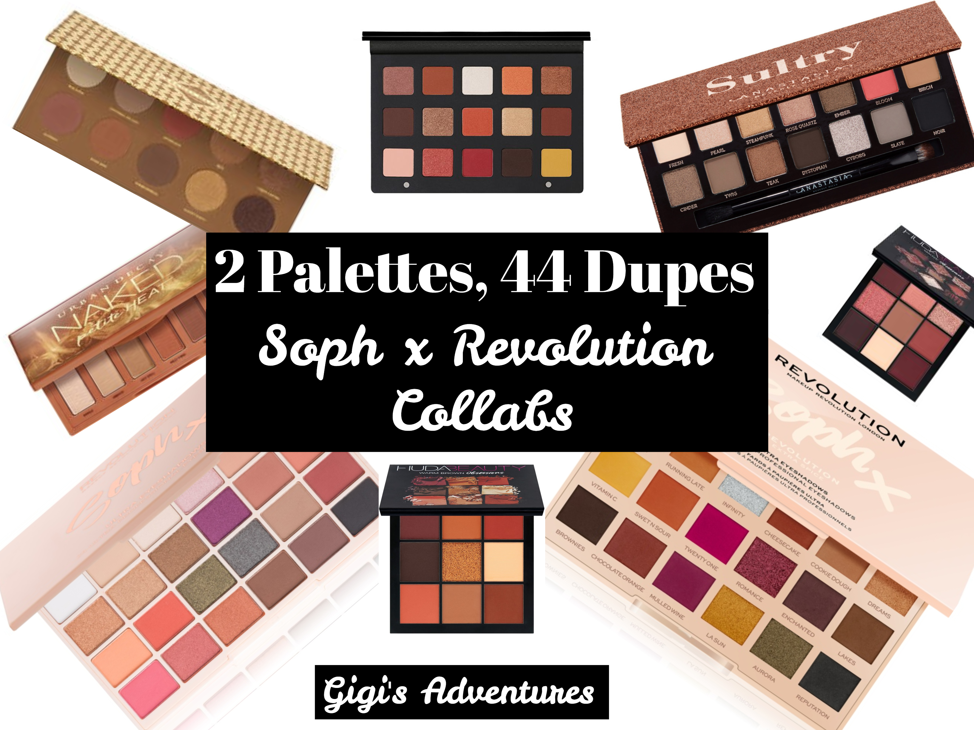 2 Palettes 44 Dupes Soph X Revolution Collabs Sophx Extra Spice