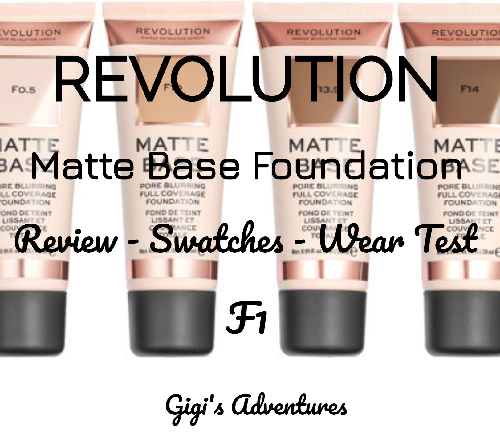 Revolution Matte Base Foundation F1 Review My New Favorite