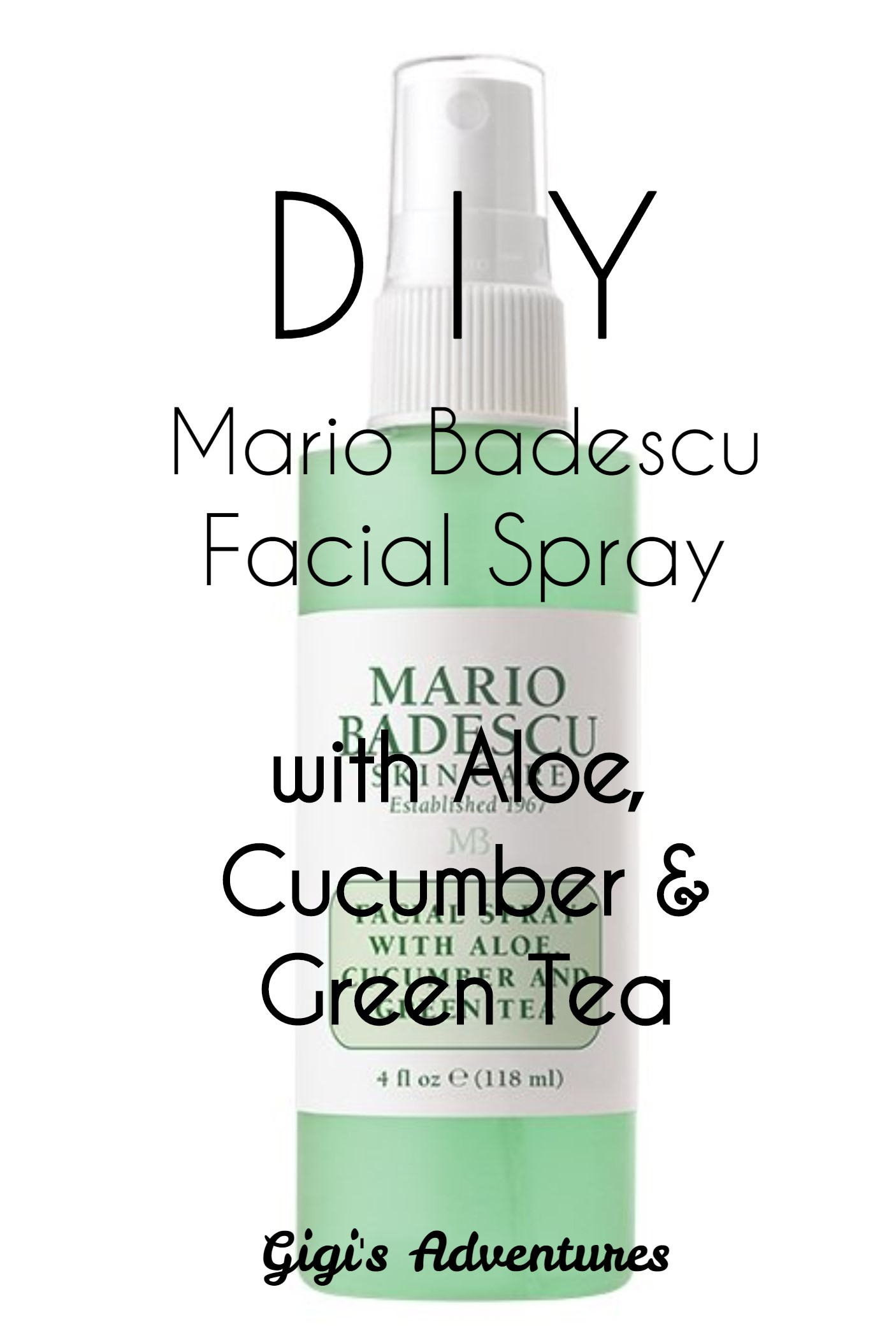 Diy Mario Badescu Facial Spray With Aloe Cucumber And Green Tea