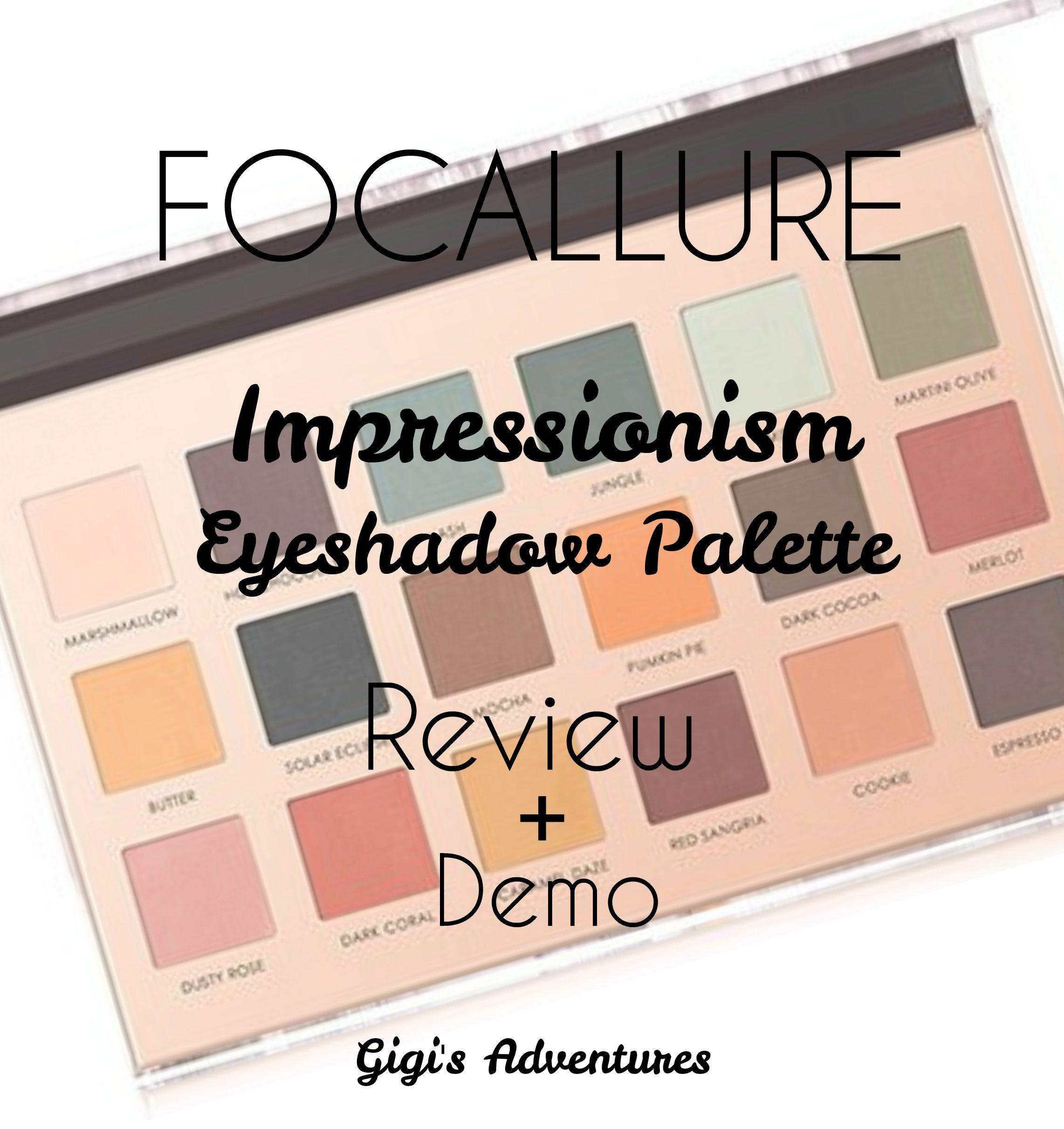 Best Matte Fall Palette Focallure Impressionism Palette